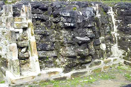 Mask on structure A2, Plaza A, Altun Ha